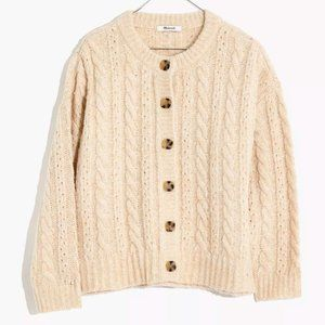 NWT Madewell Pointelle Cable Cardigan Sweater